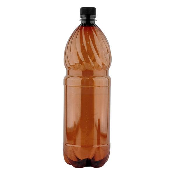 коричневая пластиковая бутылка пэт с крышкой купить оптом по низкой цене у производителя со скидкой
