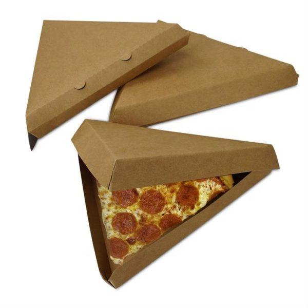 треугольная коробка под кусочек/кусок пиццы купить оптом не дорого от производителя