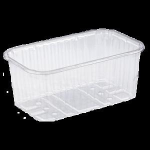 Контейнер перфорированный Т6/750/80 750 мл 190х115х80мм. Пластиковый контейнер для малины, клубники, клюквы, черники, ежевики, земляники
