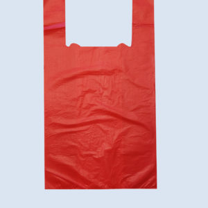 """Пакет """"майка"""" красный 24+12х45 (12мкм). Чаще всего применяется в магазинах для продажи покупателю. Цена: 0.43 руб."""