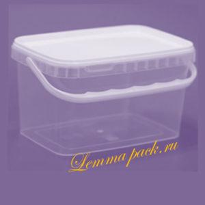 Полипропиленовое ведро с крышкой 1Л. Пластиковое ведро с удобной ручкой и плотно закрывающейся крышкой. Цена: 17.90.