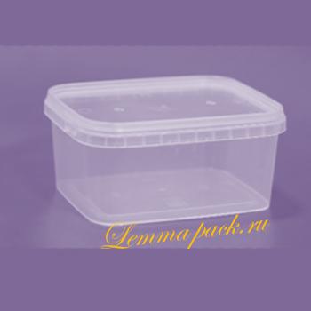 Полипропиленовый контейнер с крышкой 500мл. Прямоугольный контейнер с крышкой на 500мл. для холодных и горячих блюд. Цена: 10.45 руб.