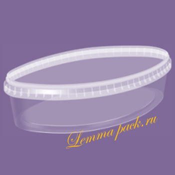 Полипропиленовая банка с крышкой 1Л. Пластиковый контейнер 1 литр для фасовки селедки, скумбрии. Цена: 16.90 руб.