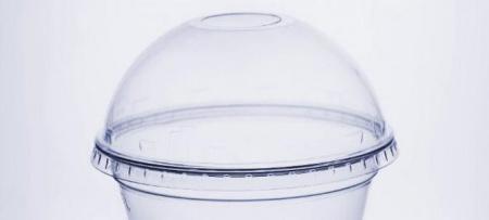 Крышка купольная ПЭТ с отверстием 95мм. Применение: для мороженого, для молочного коктейля, для холодных напитков.