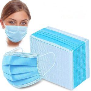 Маска одноразовая 3-х слойная медицинская. Перчатки медицинские. Халаты одноразовые, тонкие, тканевые, синие, медицинские.