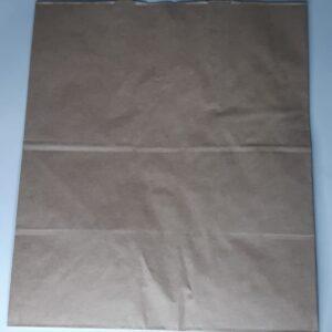 бумажный крафт пакет с петлевой ручкой плоским дном 370х200х320мм