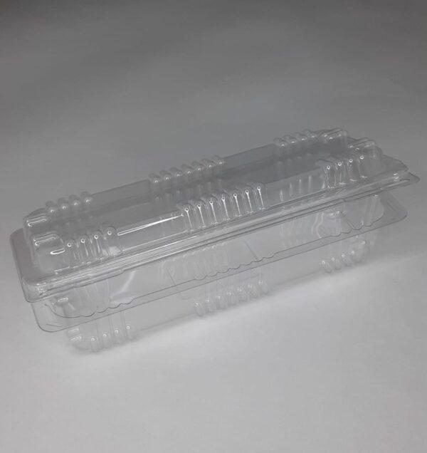 одноразовый пластиковый контейнер кпаковка коробочка прозрачная для упаковки одного эклера