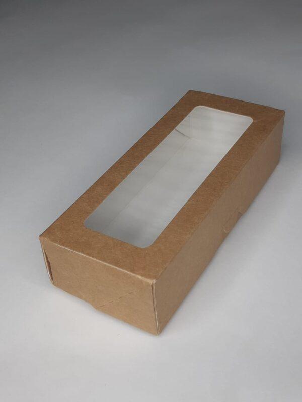 крафт коробочка пенал с окошком окном для кусочка мыла, мыльного кусочка, одноразовая, бумажная, коробка для упаковки мыла