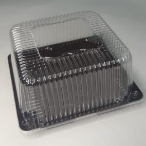 одноразовая пластиковая квадратная коробка, квадратный короб для упаковки торта