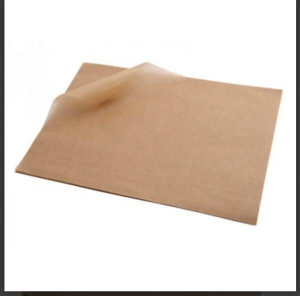 одноразовый бумажный подмергамент пергамент небеленый 42х60см