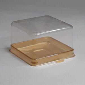 квадратная коробочка с золотым дном